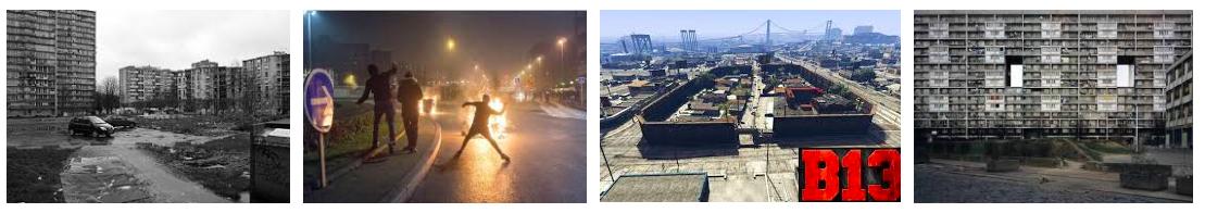 """Résultats Google images pour le mot """"banlieue parisienne""""."""